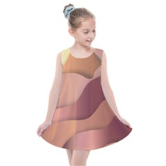 Autumn Copper Gradients Kids  Summer Dress by HermanTelo