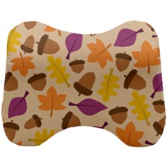 Acorn Leaves Pattern Head Support Cushion