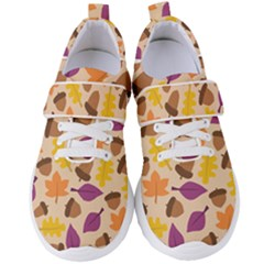 Acorn Leaves Pattern Women s Velcro Strap Shoes by HermanTelo