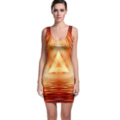 Abstract Orange Triangle Bodycon Dress by HermanTelo