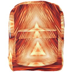 Abstract Orange Triangle Full Print Backpack