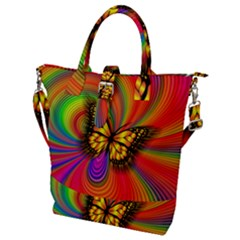 Arrangement Butterfly Buckle Top Tote Bag