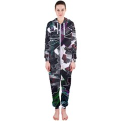 Abstract Science Fiction Hooded Jumpsuit (ladies)