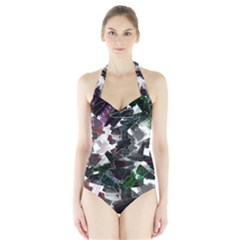 Abstract Science Fiction Halter Swimsuit by HermanTelo