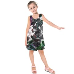 Abstract Science Fiction Kids  Sleeveless Dress by HermanTelo