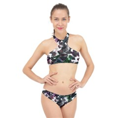 Abstract Science Fiction High Neck Bikini Set by HermanTelo
