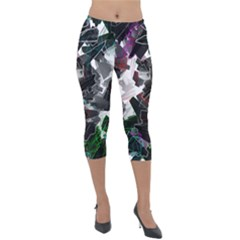 Abstract Science Fiction Lightweight Velour Capri Leggings  by HermanTelo
