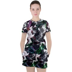 Abstract Science Fiction Women s Tee And Shorts Set