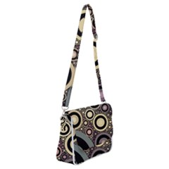 Art Retro Vintage Shoulder Bag With Back Zipper by HermanTelo
