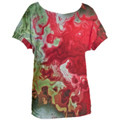 Abstract Stain Red Seamless Women s Oversized Tee by HermanTelo