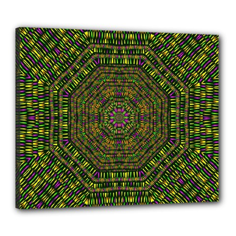 Peace Flower Planet And Calm Fire Canvas 24  X 20  (stretched) by pepitasart