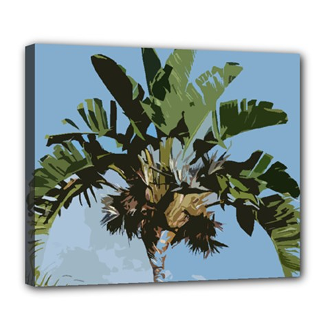 Palm Tree Deluxe Canvas 24  X 20  (stretched) by snowwhitegirl