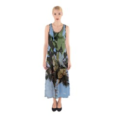 Palm Tree Sleeveless Maxi Dress by snowwhitegirl