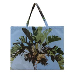 Palm Tree Zipper Large Tote Bag by snowwhitegirl