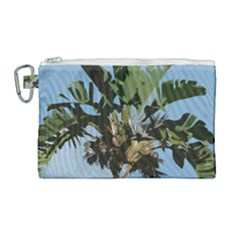 Palm Tree Canvas Cosmetic Bag (large) by snowwhitegirl