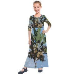 Palm Tree Kids  Quarter Sleeve Maxi Dress by snowwhitegirl