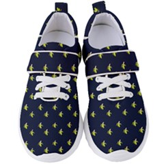 Peeled Banana On Blue Women s Velcro Strap Shoes by snowwhitegirl