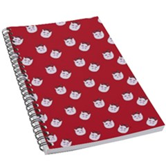 Lazy Bat One Red Pattern 5 5  X 8 5  Notebook