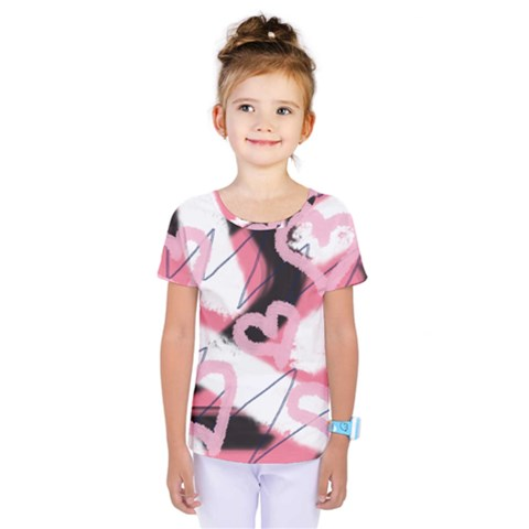 Heart Abstract Kids  One Piece Tee by snowwhitegirl
