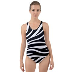 Zebra Cut-out Back One Piece Swimsuit by itsablingthingshop