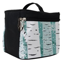 Birch Tree Background Snow Make Up Travel Bag (small)