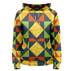 Background Geometric Color Plaid Women s Pullover Hoodie by Mariart