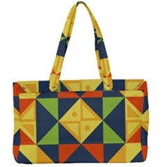 Background Geometric Color Plaid Canvas Work Bag by Mariart