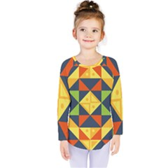 Background Geometric Color Plaid Kids  Long Sleeve Tee by Mariart