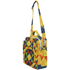 Background Geometric Color Plaid Crossbody Day Bag by Mariart