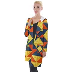 Background Geometric Color Plaid Hooded Pocket Cardigan by Mariart