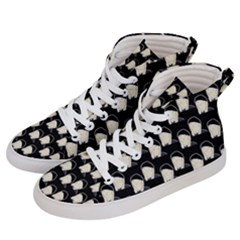 Beanie Boy Pattern Men s Hi-top Skate Sneakers by snowwhitegirl