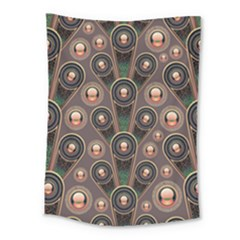 Abstract Pattern Green Medium Tapestry by HermanTelo