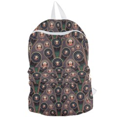 Abstract Pattern Green Foldable Lightweight Backpack by HermanTelo