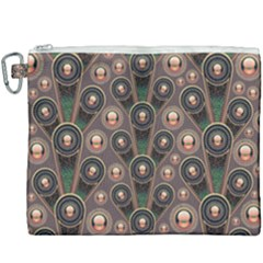 Abstract Pattern Green Canvas Cosmetic Bag (xxxl) by HermanTelo