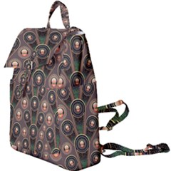Abstract Pattern Green Buckle Everyday Backpack