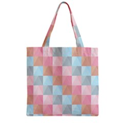 Background Pastel Zipper Grocery Tote Bag by HermanTelo