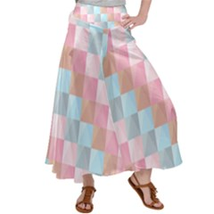 Background Pastel Satin Palazzo Pants by HermanTelo