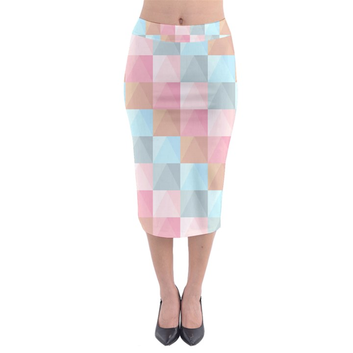 Background Pastel Midi Pencil Skirt