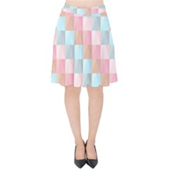 Background Pastel Velvet High Waist Skirt