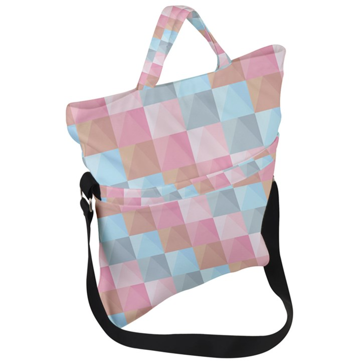 Background Pastel Fold Over Handle Tote Bag