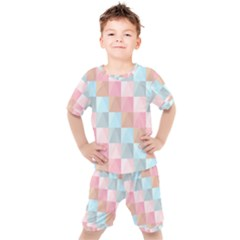 Background Pastel Kids  Tee And Shorts Set by HermanTelo