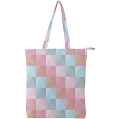 Background Pastel Double Zip Up Tote Bag by HermanTelo