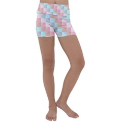 Background Pastel Kids  Lightweight Velour Yoga Shorts