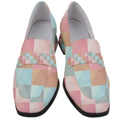 Background Pastel Women s Chunky Heel Loafers by HermanTelo