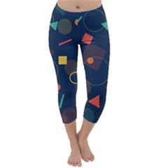 Background Geometric Capri Winter Leggings
