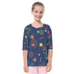 Background Geometric Kids  Quarter Sleeve Raglan Tee