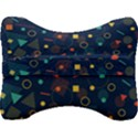 Background Geometric Velour Seat Head Rest Cushion View2