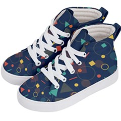 Background Geometric Kids  Hi Top Skate Sneakers by HermanTelo