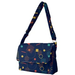 Background Geometric Full Print Messenger Bag