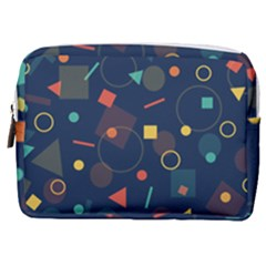 Background Geometric Make Up Pouch (medium)